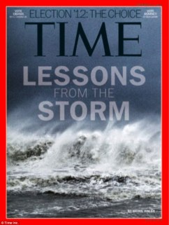 "Benjamin Lowy's iPhone image from Hurricane Sandy, on the cover of TIME. ""We had plenty of images to choose from, but this was the one we wanted,"" said TIME Director of Photography Kira Pollack."