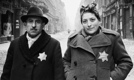 A Jewish couple in Budapest in 1944.