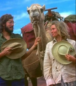 Rick Smolan and Robyn Davidson in 1977.