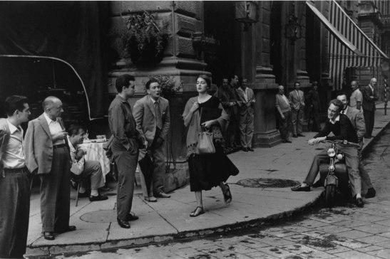 An American Girl in Italy, 1951, (c) Ruth Orkin, courtesy of the Ruth Orkin Photo Archive