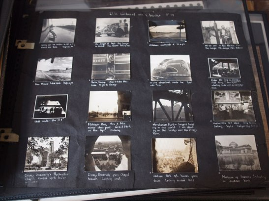 As this page from an early scrapbook shows, Ruth Orkin was curious from a young age
