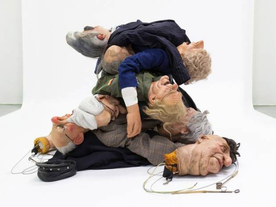 Spitting Image puppets of Margaret Thatcher and her political peers. Image (c) Andrew Bruce and Anna Fox