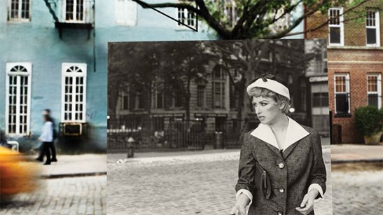One of Cindy's Sherman's iconic film stills was photographed on Jane Street in the West Village. Image (c) Peter Funch.