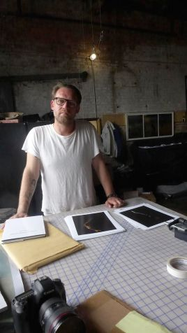 Peter Funch in his studio. Image (c) Sarah Coleman