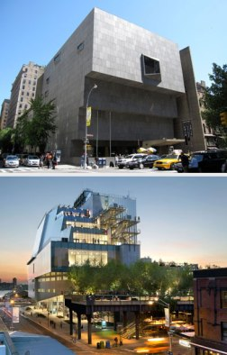 The Whitney old (above) and new.