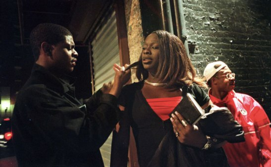 A transsexual prostitute and pimp in the Meatpacking District, 1999. Lynsey Addario/Getty Images Reportage