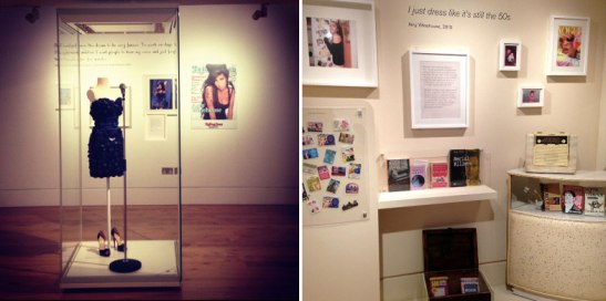 As well as showcasing her famous frocks, the exhibition gives insight into Amy's reading habits.
