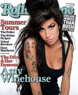 At the height of her fame... Winehouse on the cover of Rolling Stone.