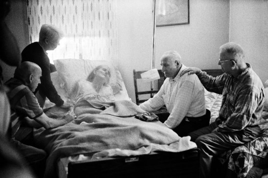 Closer to home: Kashi photographed a deathbed scene in West Virginia as part of his book Aging in America. Photo (c) Ed Kashi/VII Photo