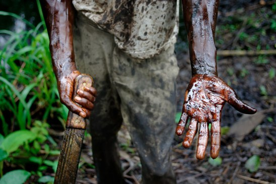 """The spill was disgusting...Shell should be ashamed of its behavior in Nigeria,"" Kashi wrote in 2004. Photo (c) Ed Kashi/VII Photo"