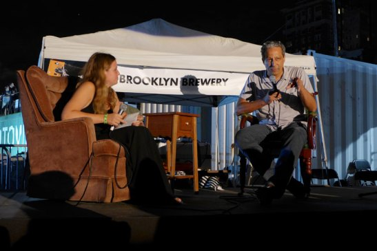 Kashi (right) in conversation with photojournalist Katie Orlinsky at Photoville 2015. Photo (c) Sarah Coleman