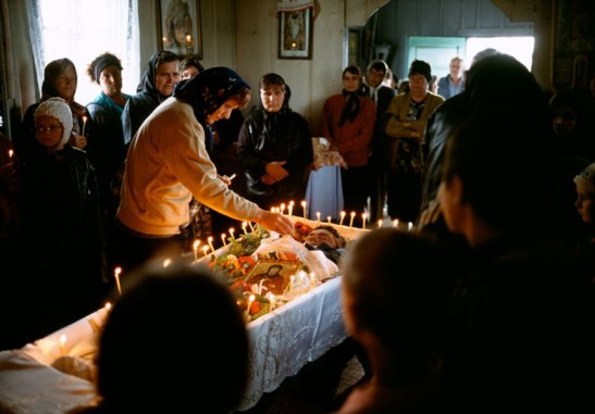 """I broke down in the church, thinking of how beautifully this man's death was being witnessed,"" Kashi wrote of a Romanian funeral in 2001. Photo (c) Ed Kashi/VII Photo"