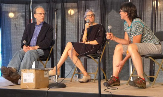 Fred Ritchin, Penelope Umbrico and Rita Leistner discuss how photography is meeting the digital revolution. Photo (c) Sarah Coleman