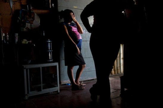 "At 14, Sulmi in Guatemala is nine months pregnant with a girl. ""(c) Stephanie Sinclair/Too Young to Wed"
