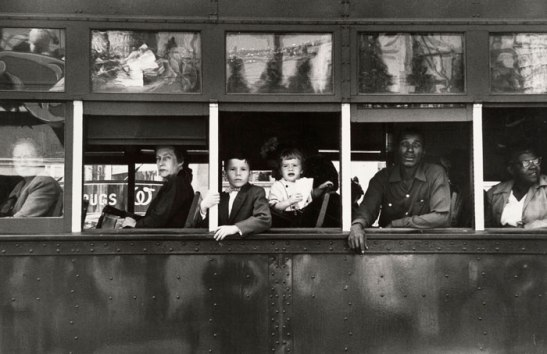 Trolley, New Orleans, 1955 is an iconic image from The Americans by Robert Frank