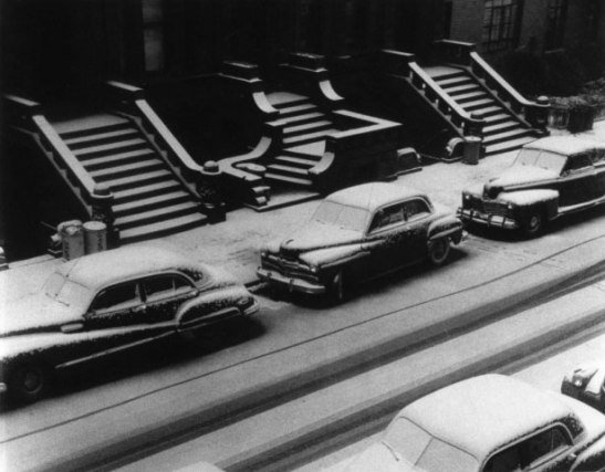 White Stoops, New York, 1952 by Ruth Orkin