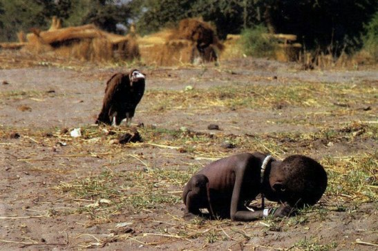 Three months after shooting this prize-winning photograph, Kevin Carter committed suicide.
