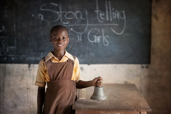 This girl in rural Ghana is on an educational scholarship provided by WomensTrust. Image (c) Mark Tuschman
