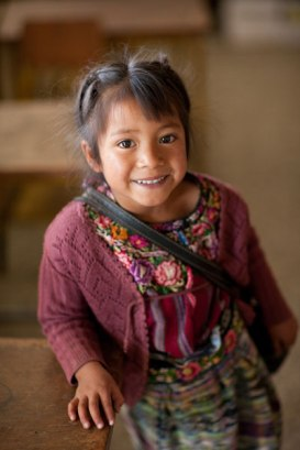 In rural Guatemala, forced marriage and domestic violence are common. This young girl attends Opening Opportunities, a UNPFA program designed to teach girls the value of education. Image (c) Mark Tuschman