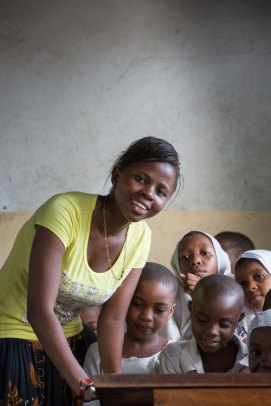 Born in a slum in Tanzania, Farida Mussa is now an English teacher. Image (c) Mark Tuschman