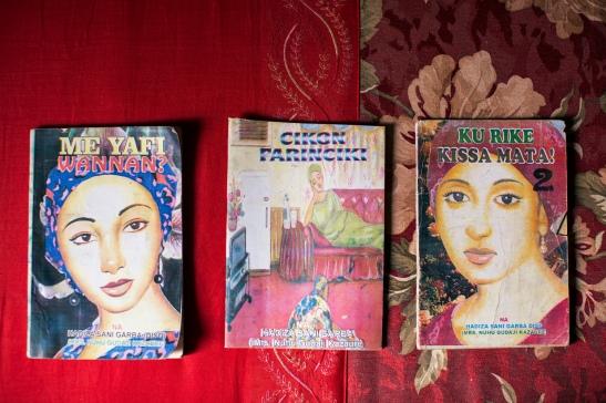 Three examples of littattafan soyayya novels. Image (c) Glenna Gordon
