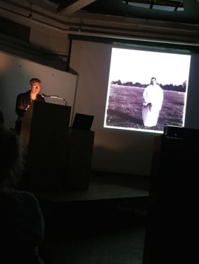 Alexander Nemerov speaking at the NY Studio School. Image (c) Sarah Coleman