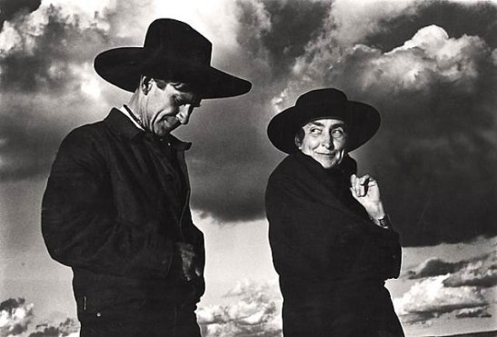 Georgia O'Keeffe and Orville Cox- Canyon de Chelly National Monument, 1937, by Ansel Adams
