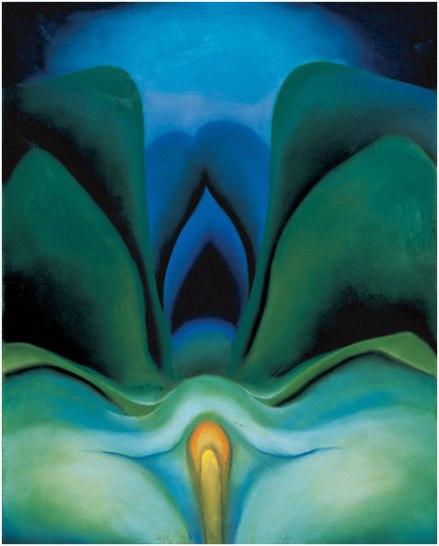 Blue Flower, 1918, by Georgia O'Keeffe