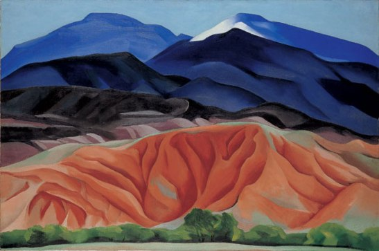 Black Mesa Landscape, New Mexico / Out Back of Marie's II, 1930, by Georgia O'Keeffe