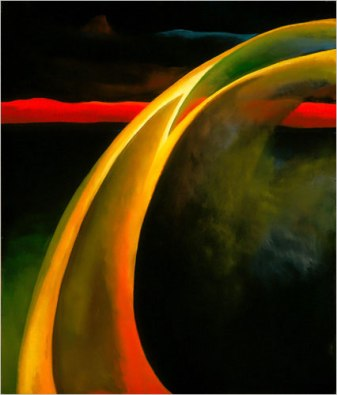 Red and Orange Streak, 1919, by Georgia O'Keeffe