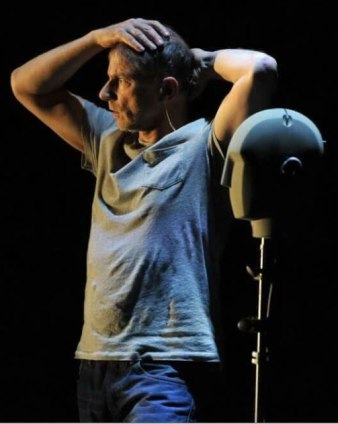 Simon McBurney in The Encounter. Photo (c) Robbie Jack